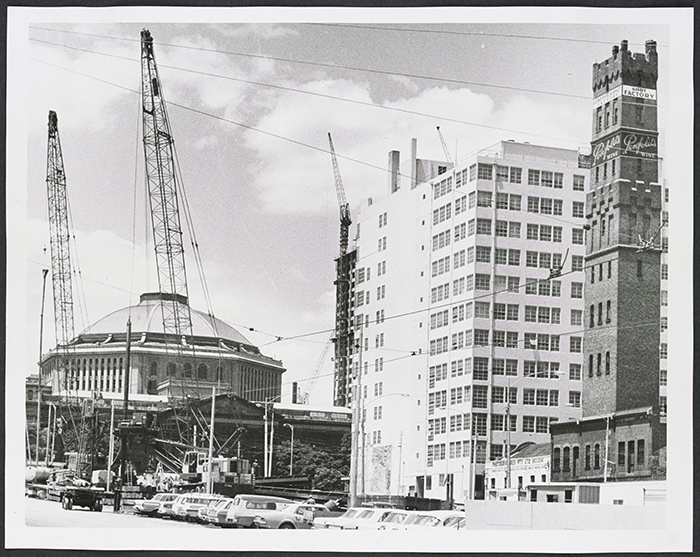 Construction of Museum Station, 1973. Source: State Library of Victoria.