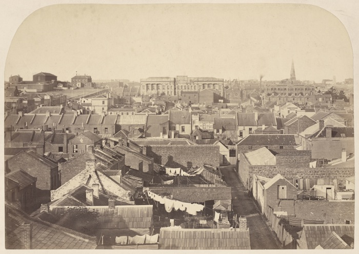 View of Melbourne Looking East, 1860.