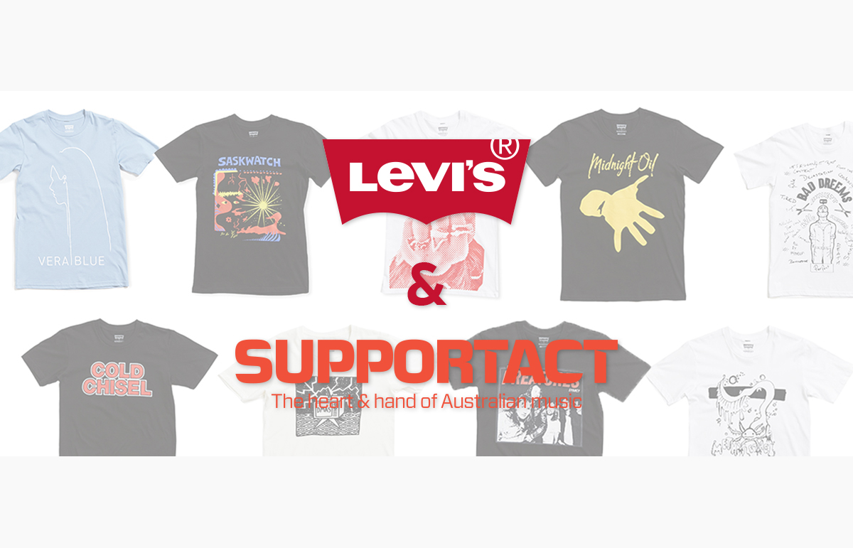 Levi's x Support Act band tees: In store now
