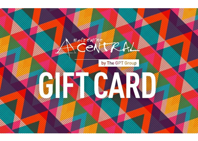 Melbourne central shopping centre gift card