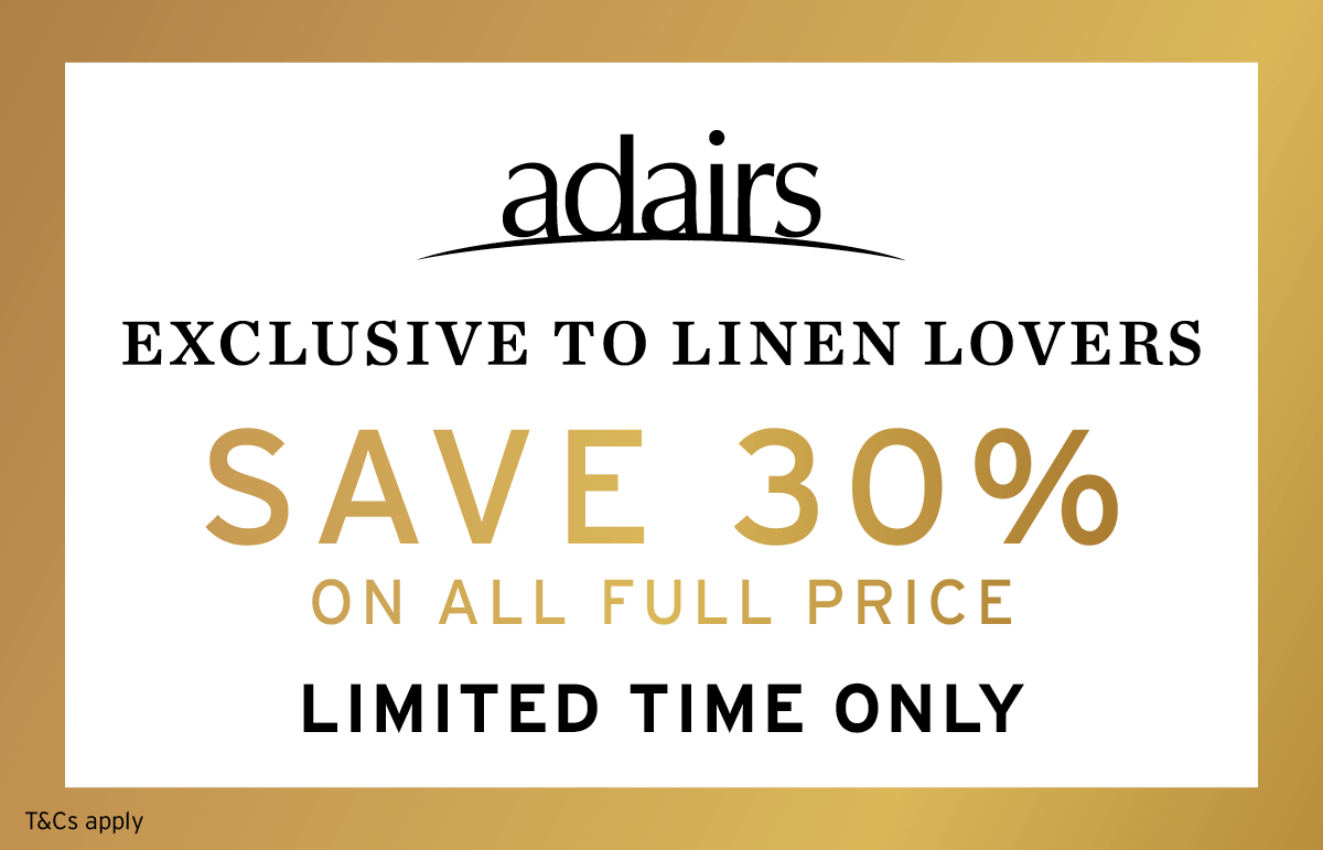 Adairs Linen Lovers 3 Day Event