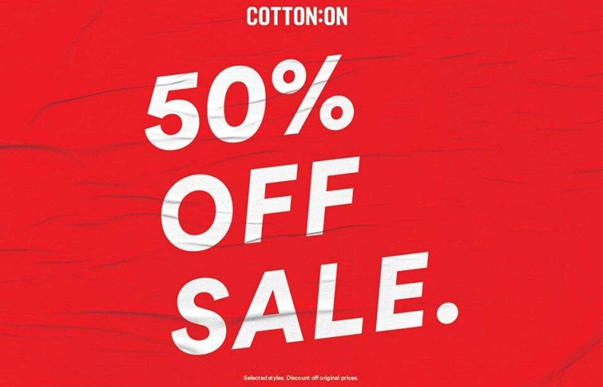 Cotton On 50% off